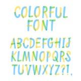 Handgezogene Filzstift ABC-Buchstaben lizenzfreies stockbild