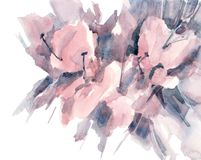 Handgezogene Skizze von Daylilyblumen auf einem weißen Hintergrund vektor abbildung