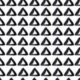 Handgezogener nahtloser Dreieckhintergrund stock abbildung