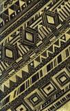 Handgezogenes Gold und schwarzes böhmisches Muster lizenzfreie abbildung