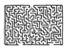 Handgezogenes Labyrinthlabyrinth lokalisiert auf weißem Hintergrund vektor abbildung