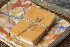 handgjord bok Arkivfoto