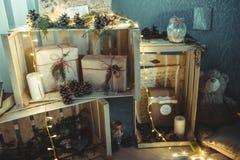 Handgjord dekor för jul royaltyfri fotografi