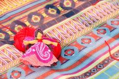 Handgjord docka av bomullsgarn Royaltyfri Fotografi