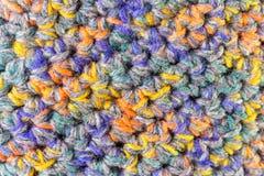 Handgjord färgrik bakgrund för handarbeteulltextur Royaltyfria Foton