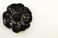 Handgjord filt, blommor royaltyfria foton