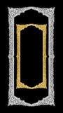 Handgjord gammal dekorativ guld- ram -, inristat - som isoleras på bla fotografering för bildbyråer