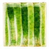 Handgjord glasad keramisk tegelplatta Royaltyfria Foton