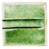 Handgjord glasad keramisk tegelplatta Arkivfoto