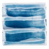 Handgjord glasad keramisk tegelplatta Fotografering för Bildbyråer