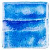 Handgjord glasad keramisk tegelplatta Royaltyfri Fotografi