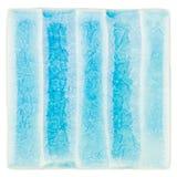 Handgjord glasad keramisk tegelplatta Arkivbild