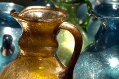 Handgjord glastillverkning Fotografering för Bildbyråer