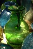 Handgjord glastillverkning Arkivfoto
