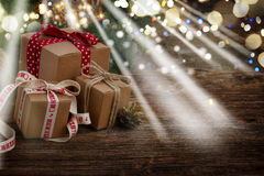 Handgjord gåvaboxe Fotografering för Bildbyråer