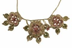 Handgjord halsband för linne Royaltyfri Fotografi