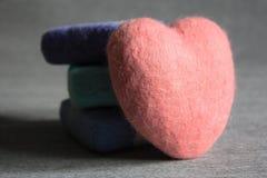 Handgjord hjärtatvål Royaltyfri Bild