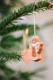 Handgjord julängel Royaltyfria Bilder
