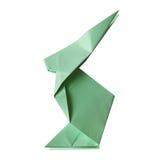 Handgjord kanin för pappers- origami på isolerad vit bakgrund Fotografering för Bildbyråer