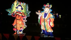 Handgjord kinesisk lykta för krigare Arkivbilder