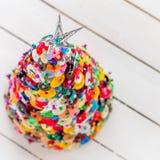 Handgjord knapp och Pin Christmas Tree Arkivbild