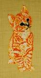 Handgjord korsstygn Arkivbilder