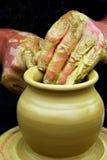 handgjord krukmakeri Royaltyfri Fotografi