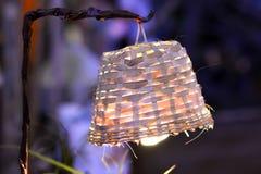 Handgjord lampa Arkivfoto