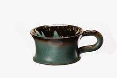Handgjord målad kopp royaltyfri bild