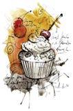 Handgjord muffin Arkivbilder