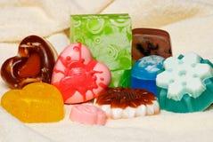 handgjord naturlig tvål Arkivbild