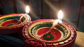 Handgjord och mångfärgad lampa av jord royaltyfria bilder