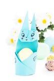 Handgjord origamieaster kanin Royaltyfri Fotografi