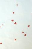 handgjord paper valentin för bakgrund Royaltyfria Bilder