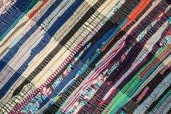 Handgjord patchworkfilt Arkivfoto