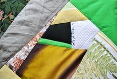 Handgjord patchworky stolkudde Royaltyfri Bild