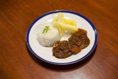 Handgjord peruansk mat arkivbilder