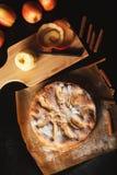 handgjord pie för äpple arkivfoton