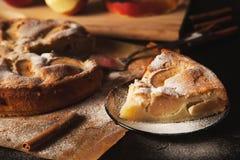 handgjord pie för äpple Arkivbild