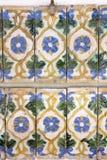 Handgjord portugis glasade tegelplattor, texturer, konster Arkivbild