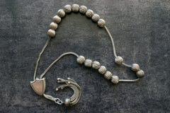 Handgjord radband för silver Royaltyfri Fotografi
