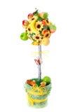 Handgjord sammansättning för träd som göras av frukt Royaltyfri Bild
