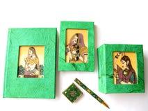handgjord settelefon för dagbok Fotografering för Bildbyråer