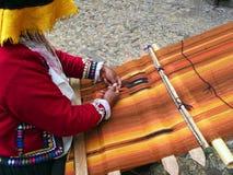Handgjord textil för Inca Royaltyfri Fotografi