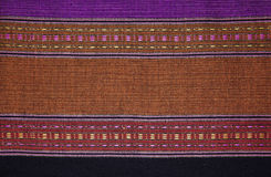 Handgjord thailändsk bomulls-/tygbakgrund, abstrakt begrepp, textur. Royaltyfri Bild