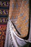 Handgjord thailändsk silke-/tygbakgrund, abstrakt begrepp, textur. Royaltyfri Bild