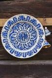 Handgjord traditionell målad krukmakeri Royaltyfria Bilder