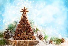 handgjord tree för jul Royaltyfri Fotografi