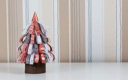handgjord tree för jul Arkivfoto