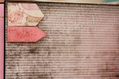 Handgjord urklippsbok Arkivfoto